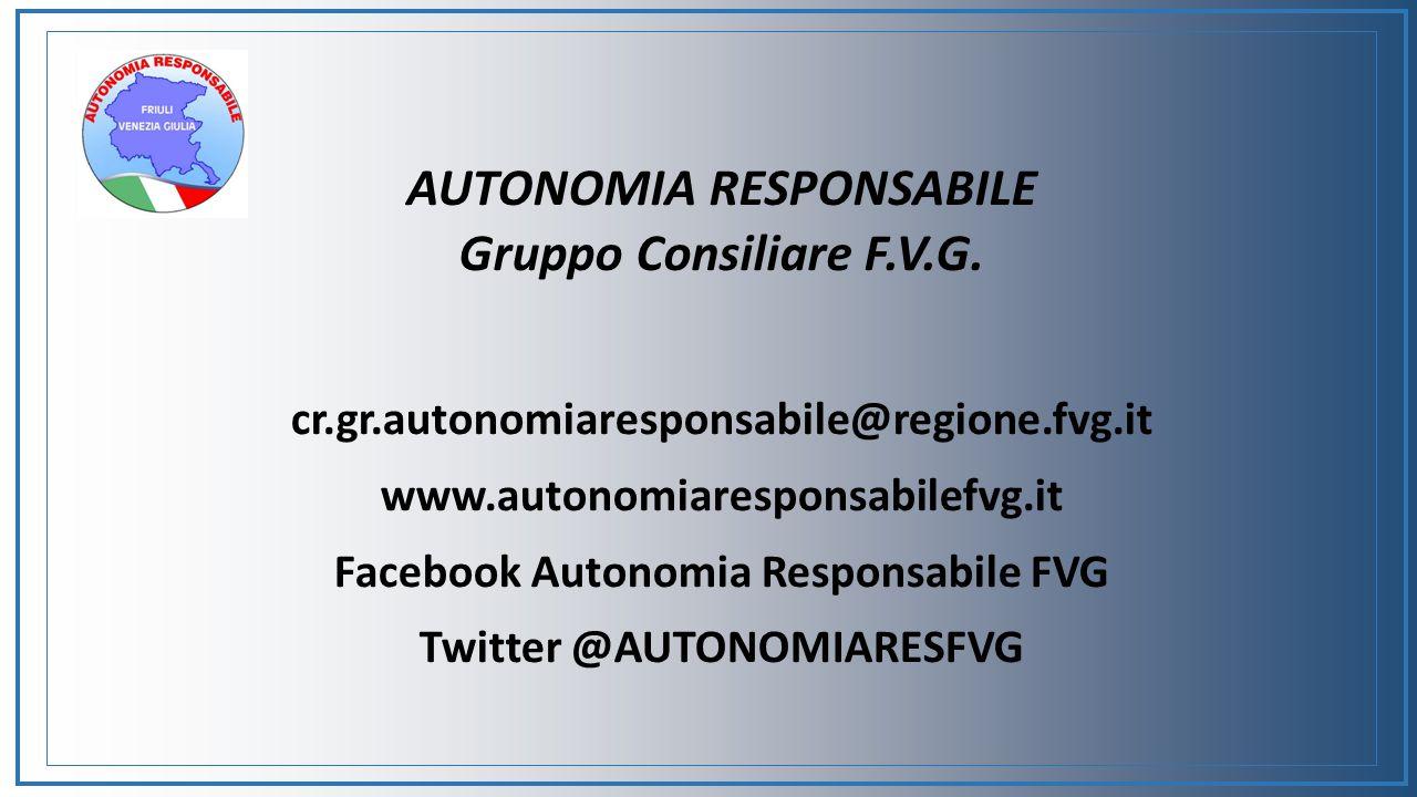 AUTONOMIA RESPONSABILE Gruppo Consiliare F.V.G.