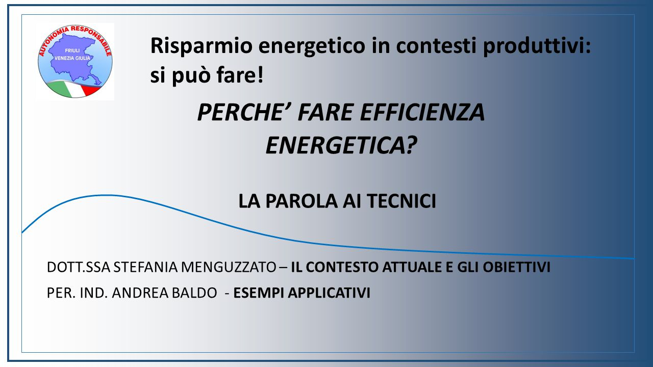 PERCHE' FARE EFFICIENZA ENERGETICA