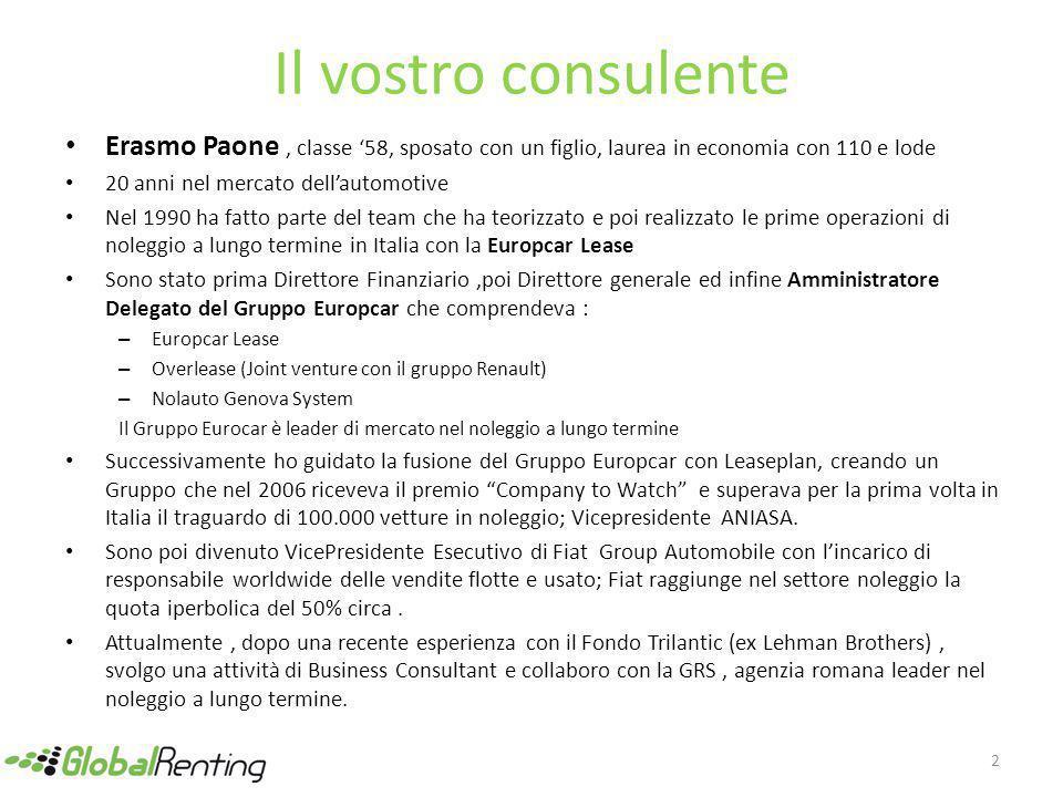 Il vostro consulente Erasmo Paone , classe '58, sposato con un figlio, laurea in economia con 110 e lode.