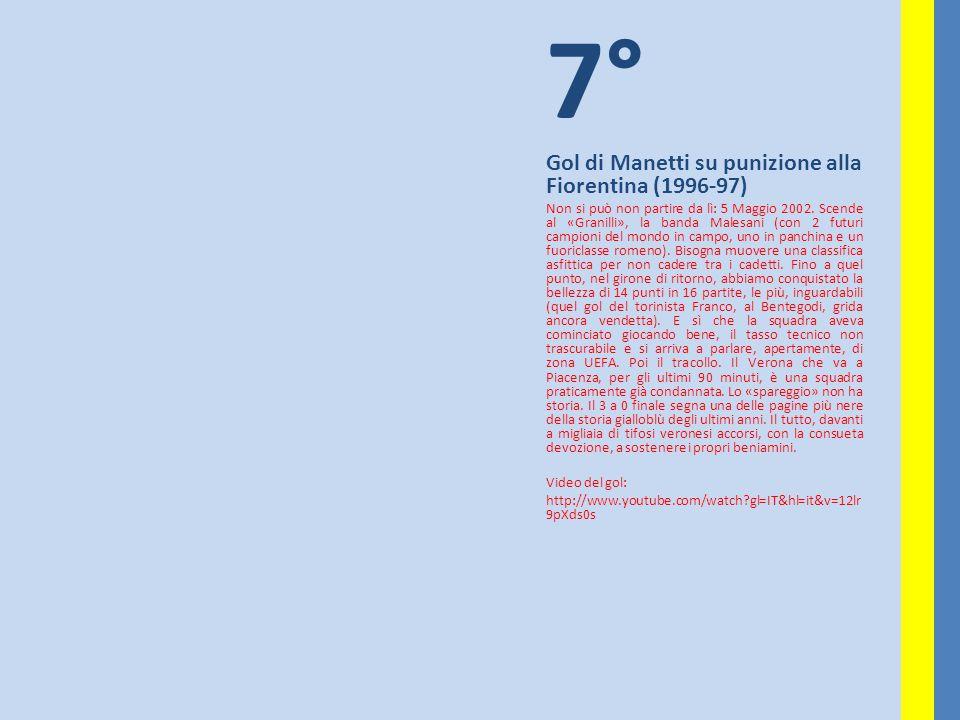 7° Gol di Manetti su punizione alla Fiorentina (1996-97)