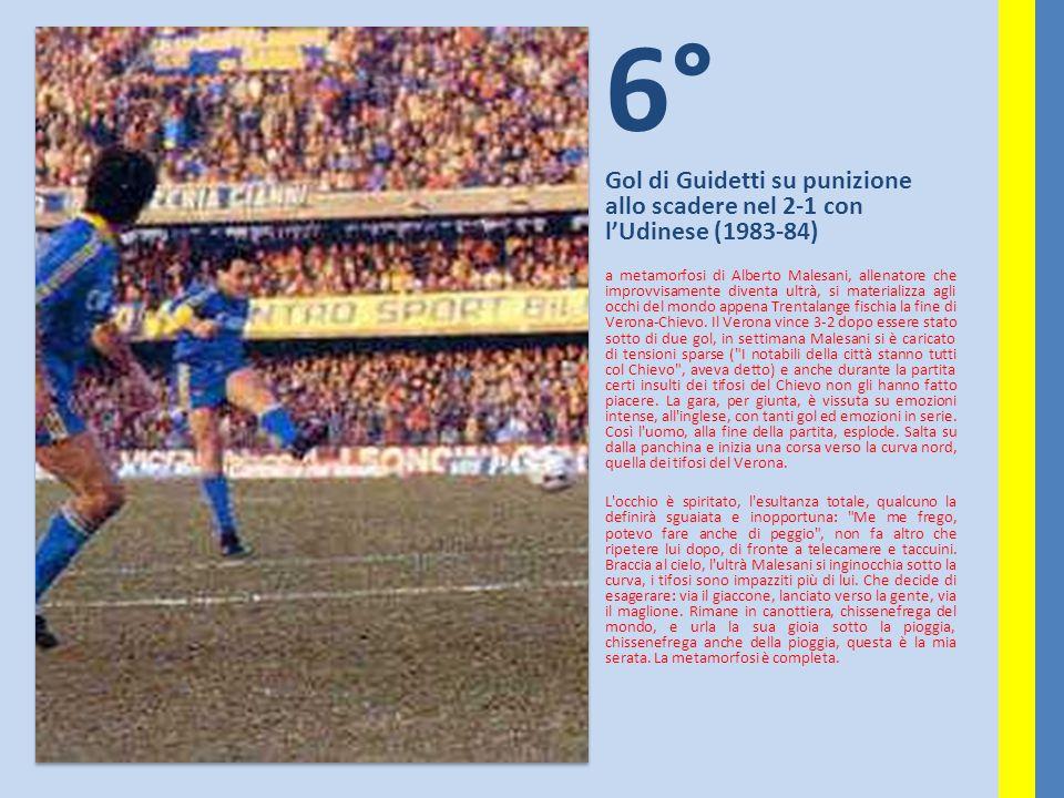 6° Gol di Guidetti su punizione allo scadere nel 2-1 con l'Udinese (1983-84)