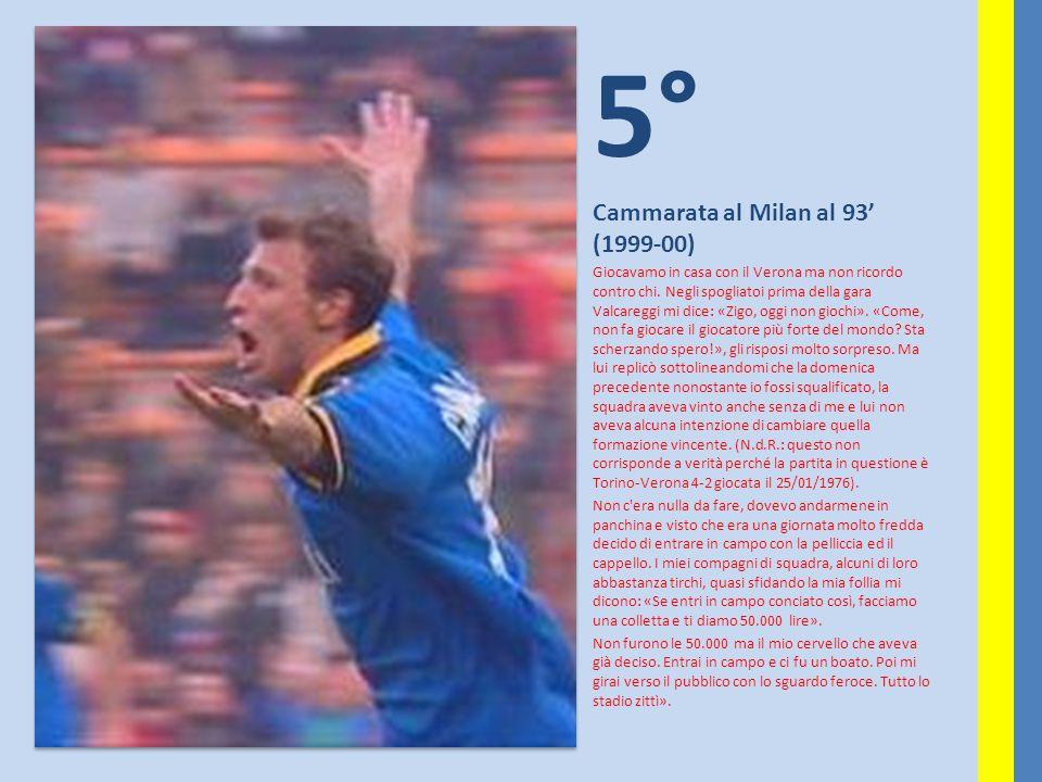 5° Cammarata al Milan al 93' (1999-00)