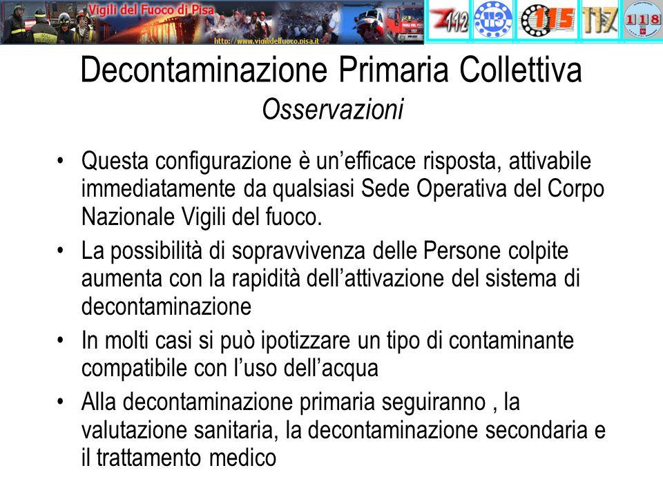 Decontaminazione Primaria Collettiva Osservazioni