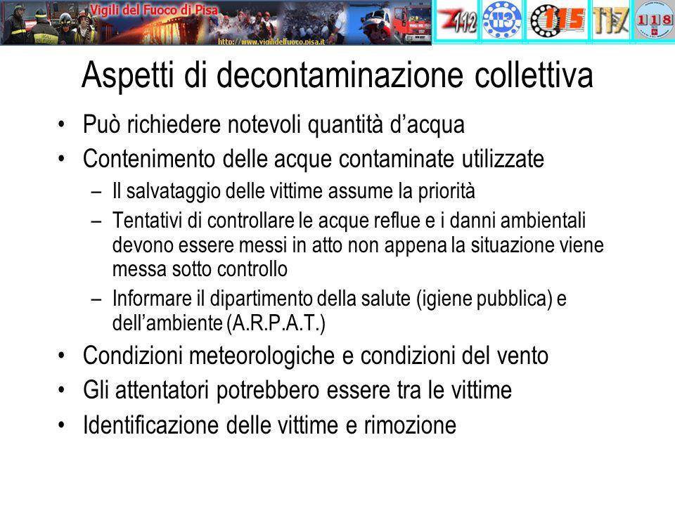 Aspetti di decontaminazione collettiva