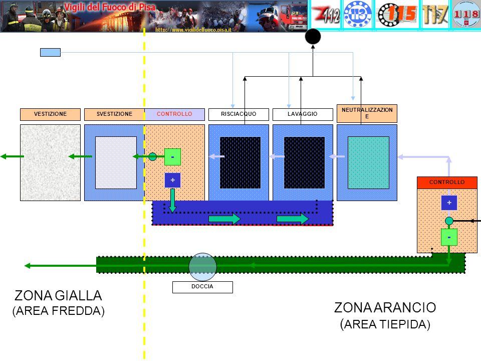 ZONA GIALLA ZONA ARANCIO (AREA TIEPIDA) (AREA FREDDA) - - + +