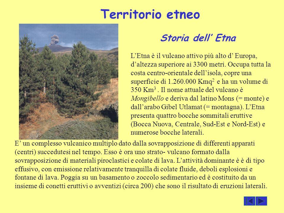 Territorio etneo Storia dell' Etna