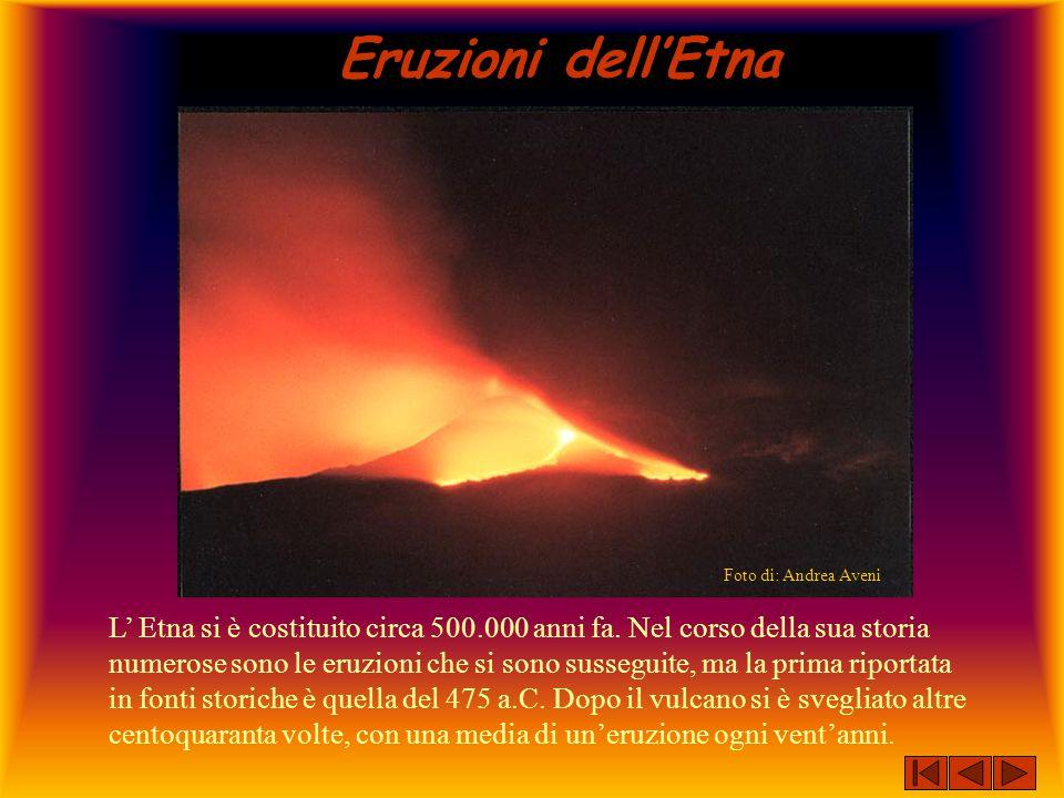Eruzioni dell'Etna Foto di: Andrea Aveni.