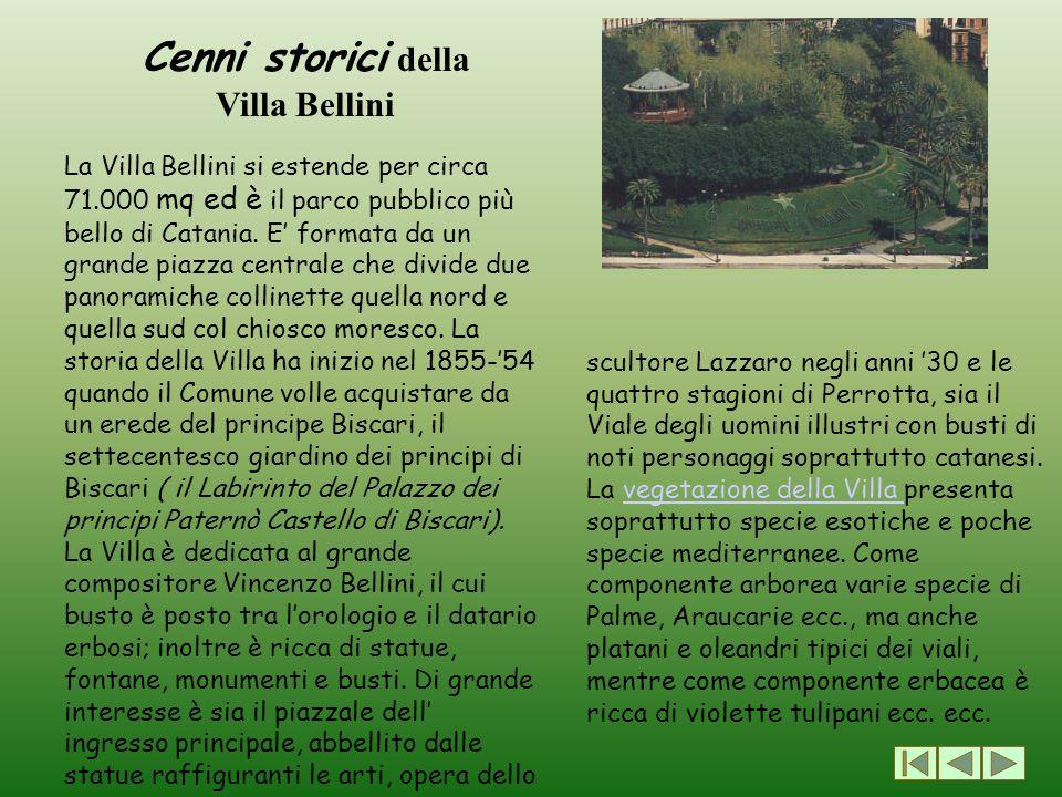 Cenni storici della Villa Bellini