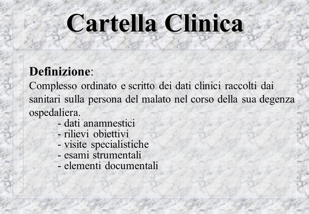 Cartella Clinica Definizione: