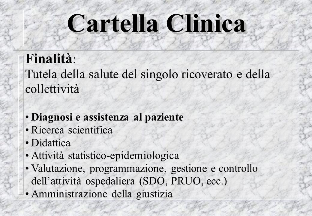 Cartella Clinica Finalità: