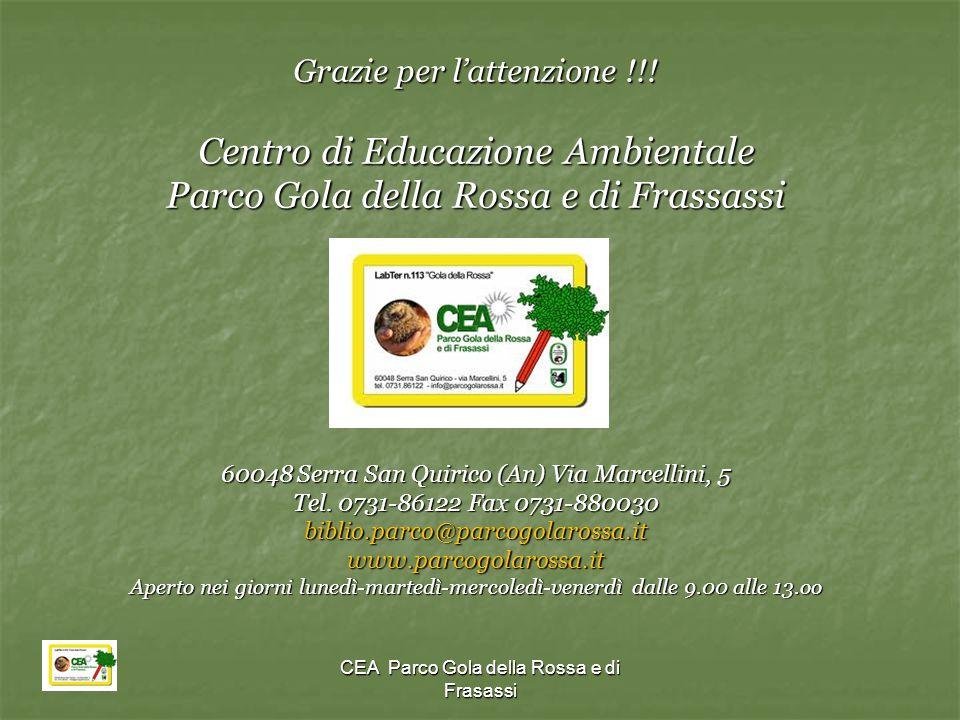 Centro di Educazione Ambientale Parco Gola della Rossa e di Frassassi