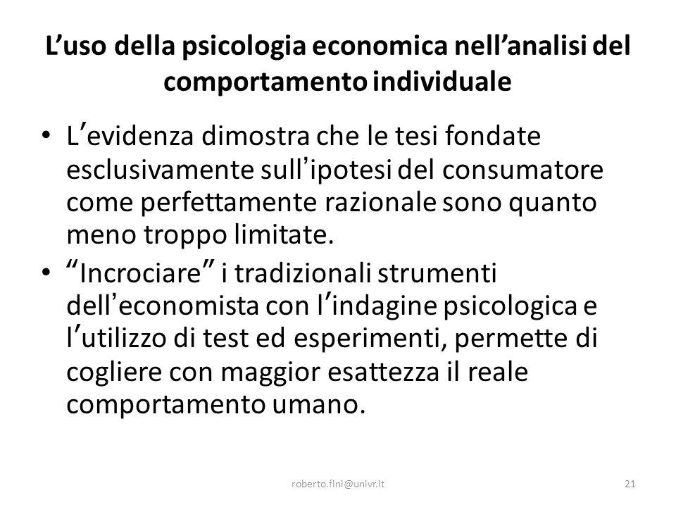 L'economia sperimentale