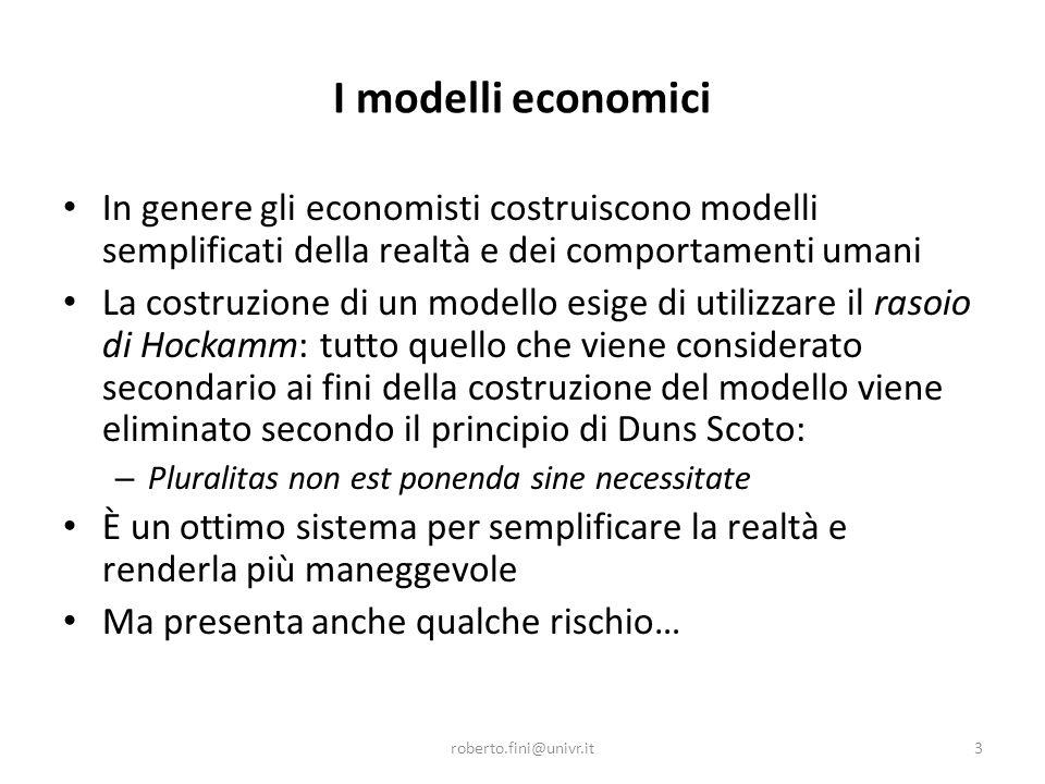 … per esempio La relazione prezzo-quantità prevista dal modello di domanda presuppone un consumatore.