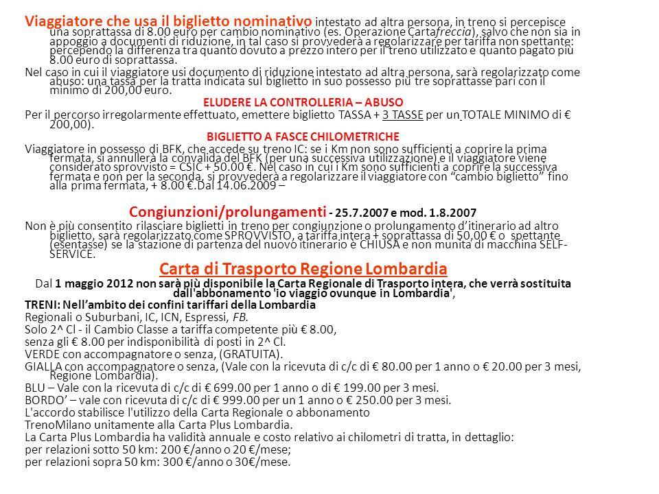 Carta di Trasporto Regione Lombardia