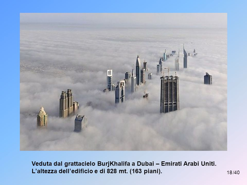 Veduta dal grattacielo BurjKhalifa a Dubai – Emirati Arabi Uniti.