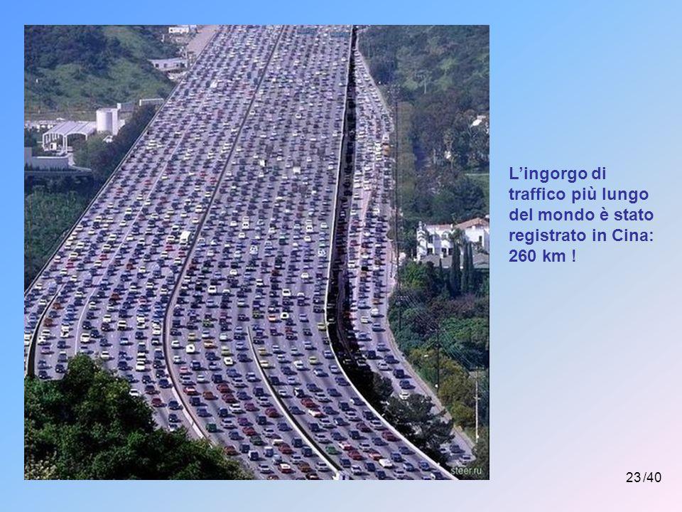 L'ingorgo di traffico più lungo del mondo è stato registrato in Cina: 260 km !