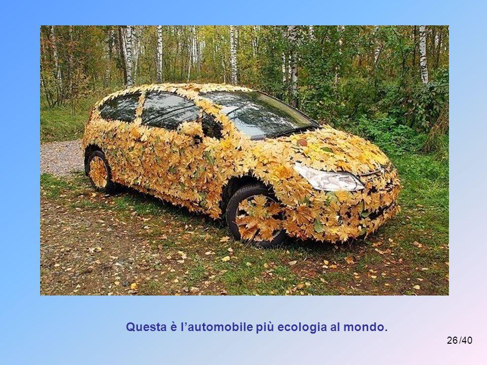 Questa è l'automobile più ecologia al mondo.