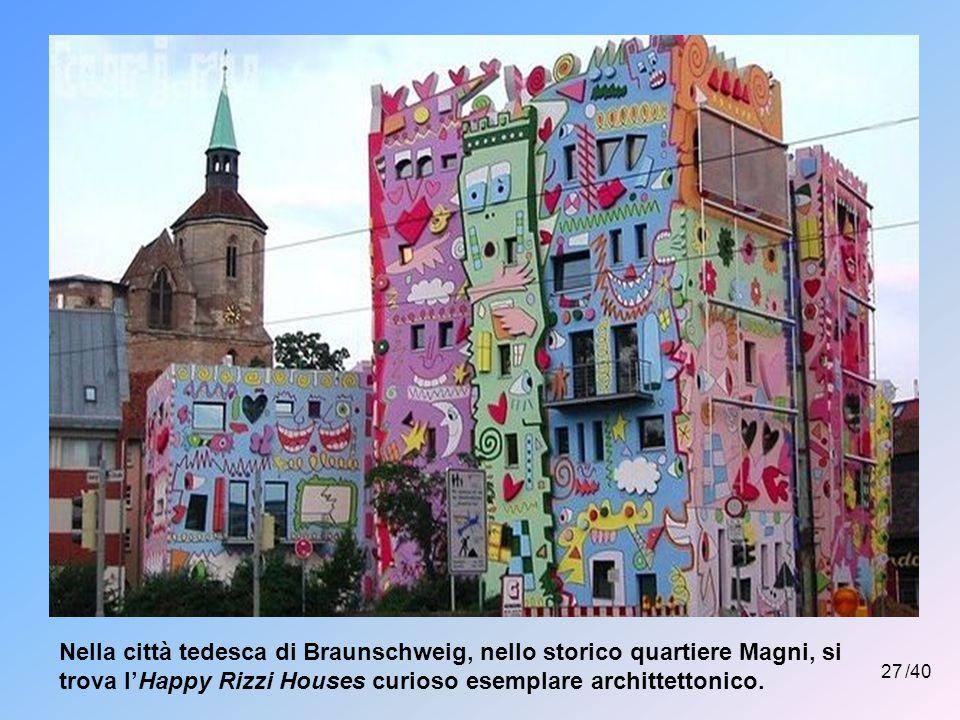 Nella città tedesca di Braunschweig, nello storico quartiere Magni, si trova l'Happy Rizzi Houses curioso esemplare archittettonico.