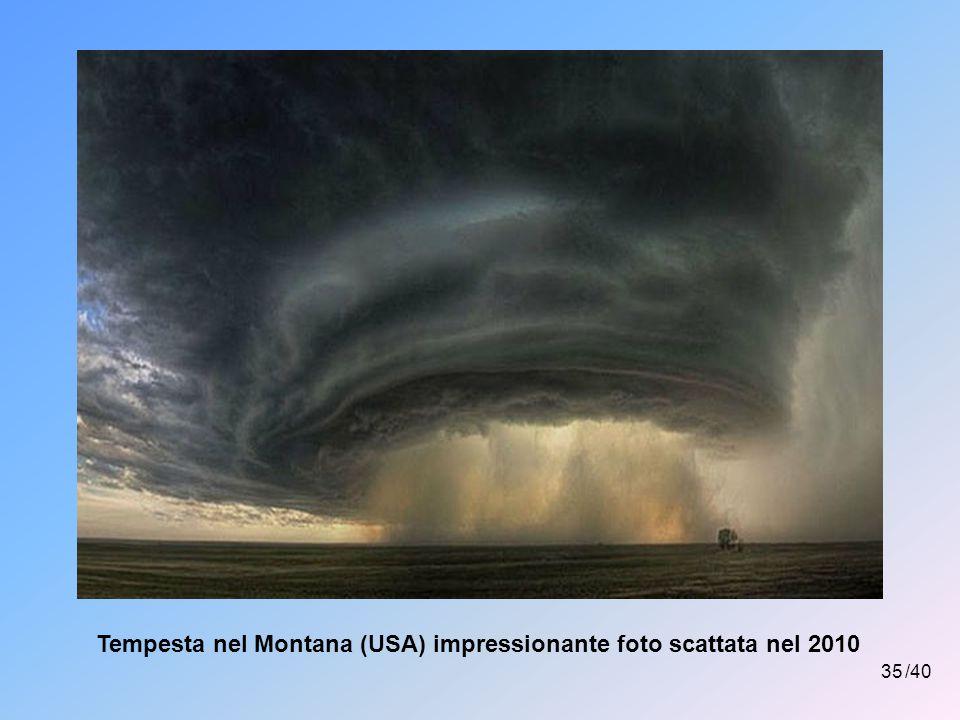 Tempesta nel Montana (USA) impressionante foto scattata nel 2010
