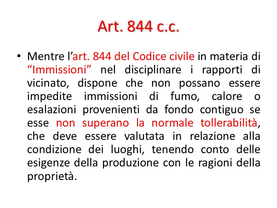 Art. 844 c.c.