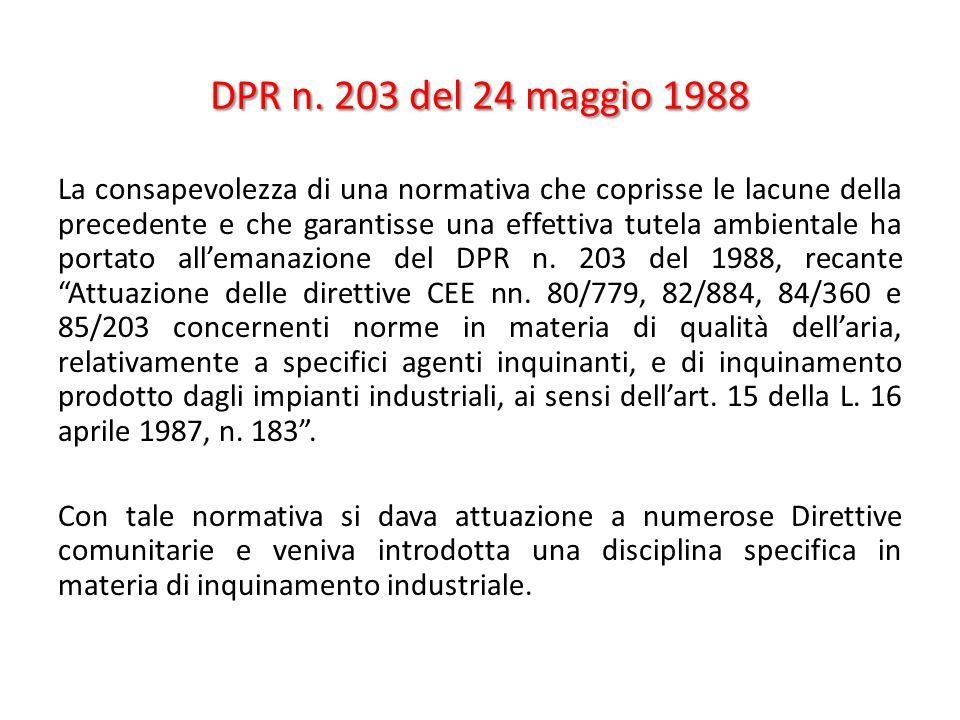 DPR n. 203 del 24 maggio 1988