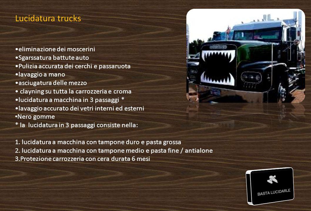 Lucidatura trucks eliminazione dei moscerini Sgarssatura battute auto