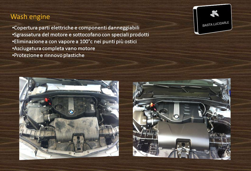 Wash engine Copertura parti elettriche e componenti danneggiabili