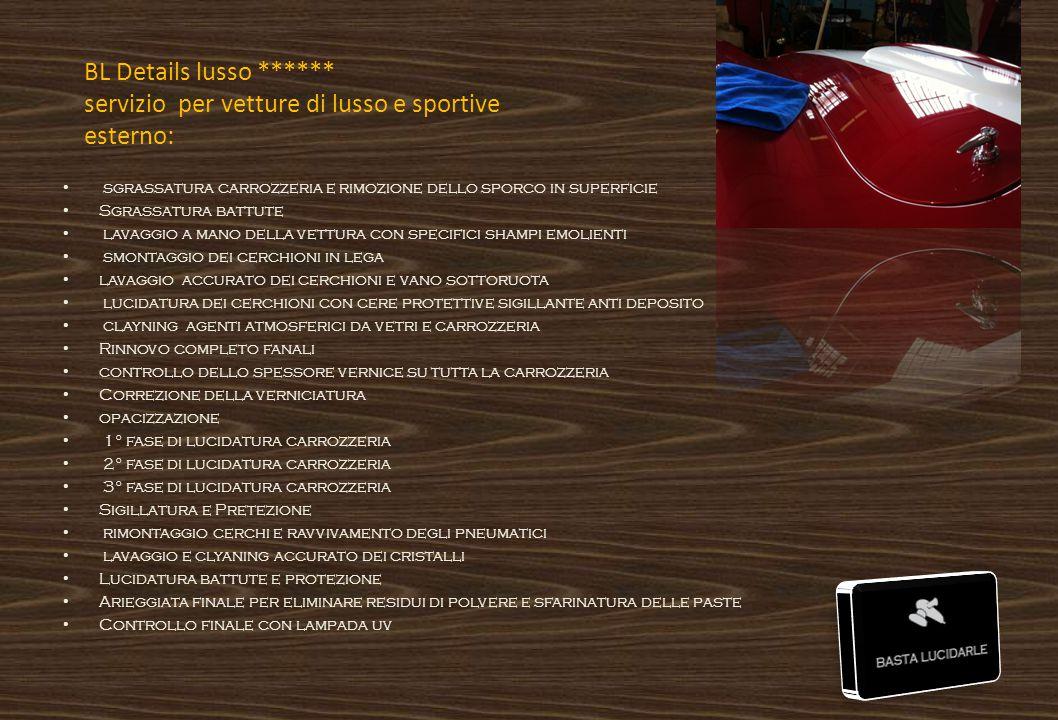 BL Details lusso ****** servizio per vetture di lusso e sportive esterno: