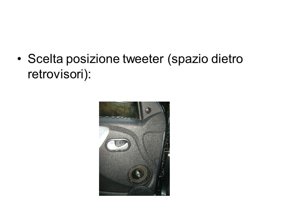 Scelta posizione tweeter (spazio dietro retrovisori):