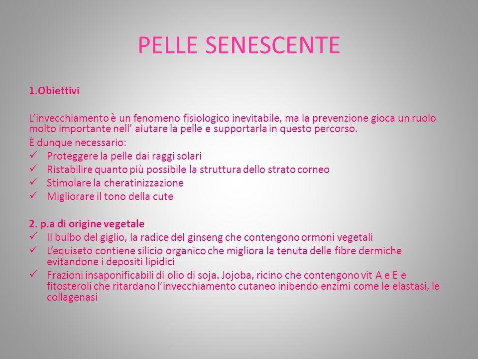PELLE SENESCENTE 1.Obiettivi