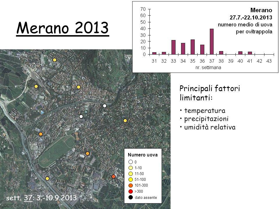 Merano 2013 Principali fattori limitanti: temperatura precipitazioni