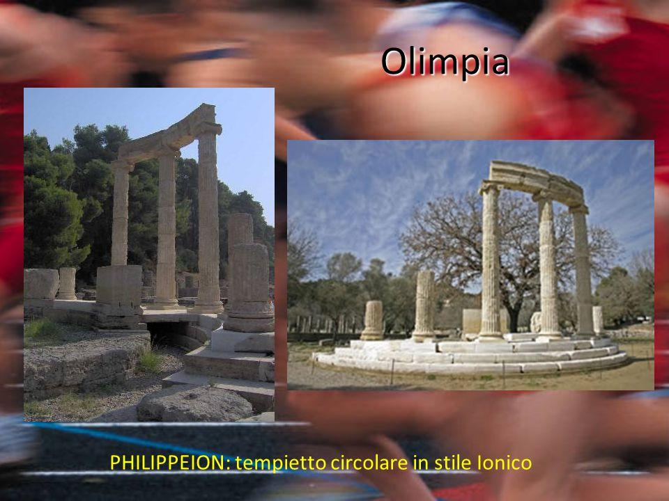 Olimpia PHILIPPEION: tempietto circolare in stile Ionico