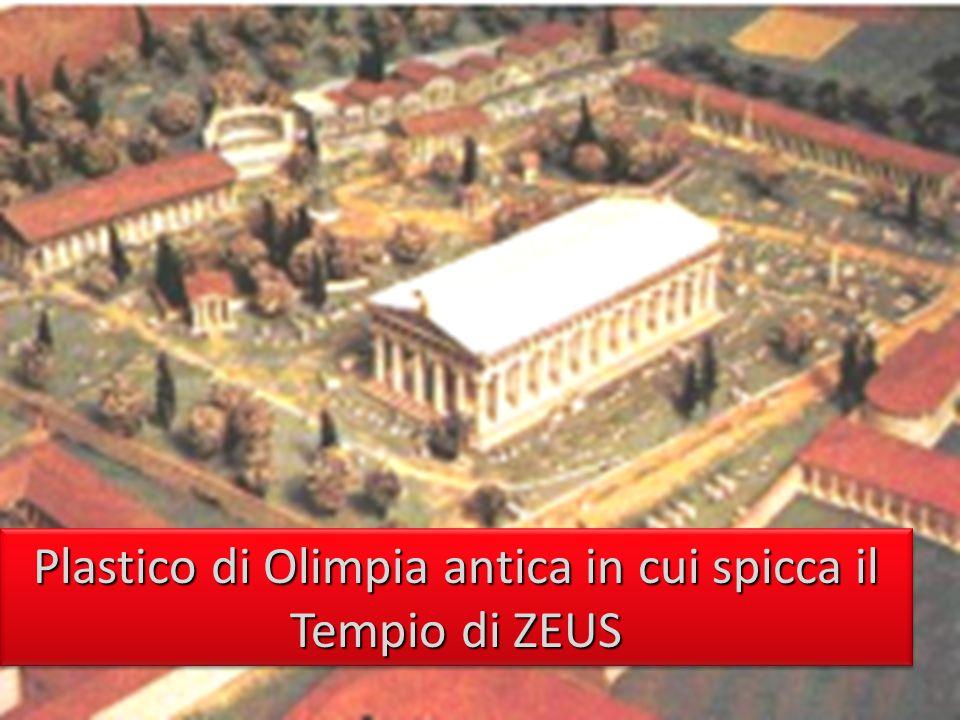 Plastico di Olimpia antica in cui spicca il Tempio di ZEUS