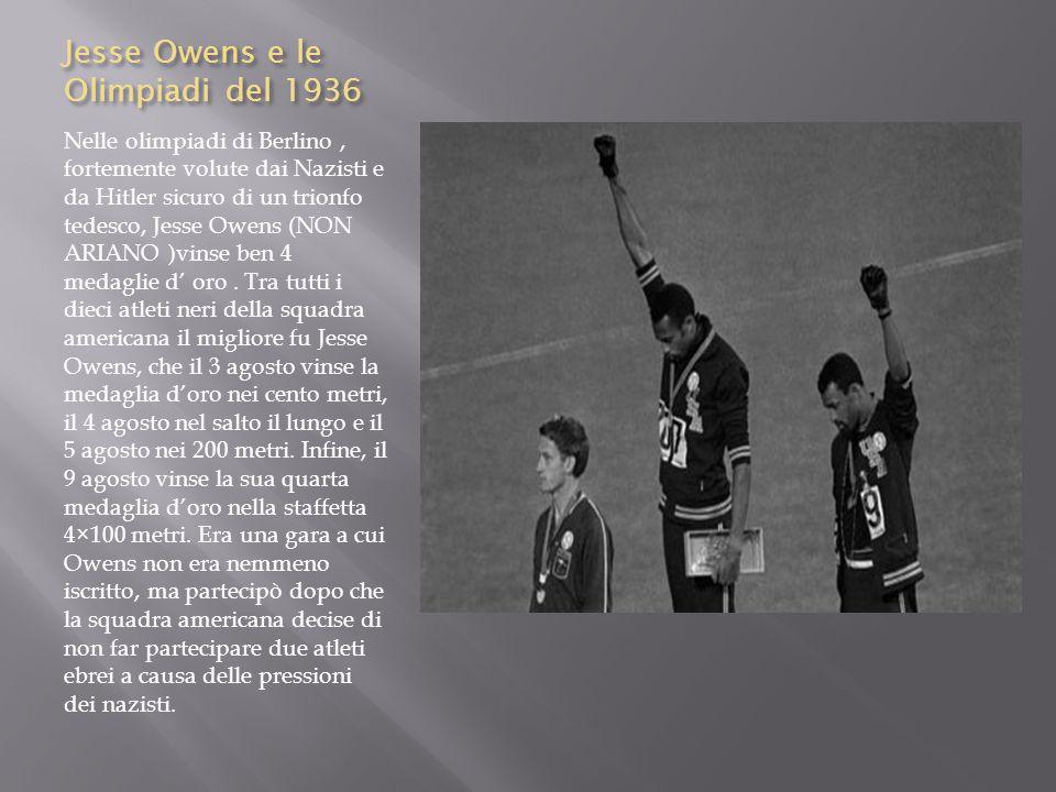 Jesse Owens e le Olimpiadi del 1936