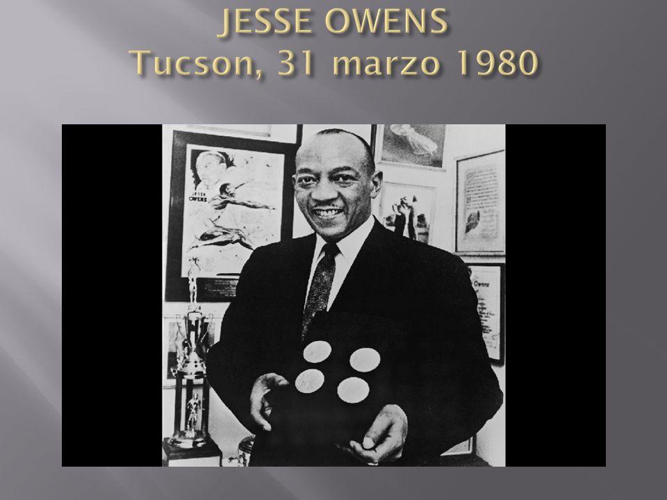 JESSE OWENS Tucson, 31 marzo 1980