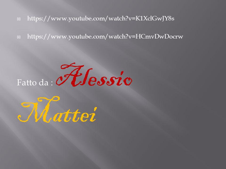 Fatto da : Alessio Mattei