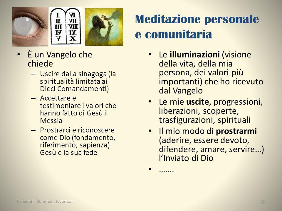 Meditazione personale e comunitaria