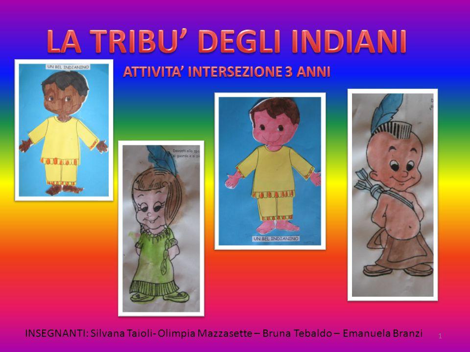 LA TRIBU' DEGLI INDIANI ATTIVITA' INTERSEZIONE 3 ANNI