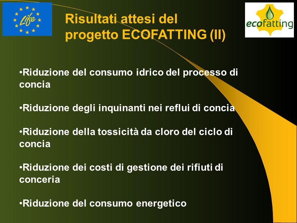 Risultati attesi del progetto ECOFATTING (II)