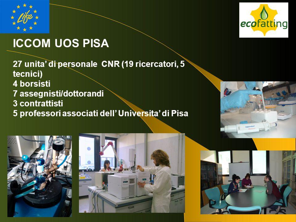 ICCOM UOS PISA 27 unita' di personale CNR (19 ricercatori, 5 tecnici)