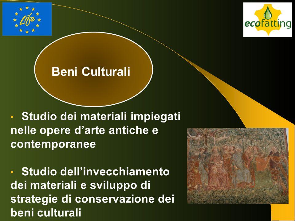 Beni Culturali Studio dei materiali impiegati nelle opere d'arte antiche e contemporanee.