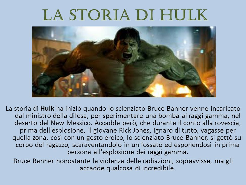 La storia di Hulk