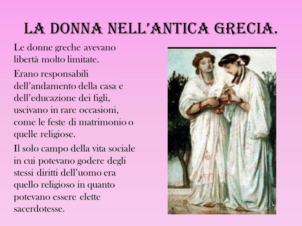 La donna nell'antica Grecia.