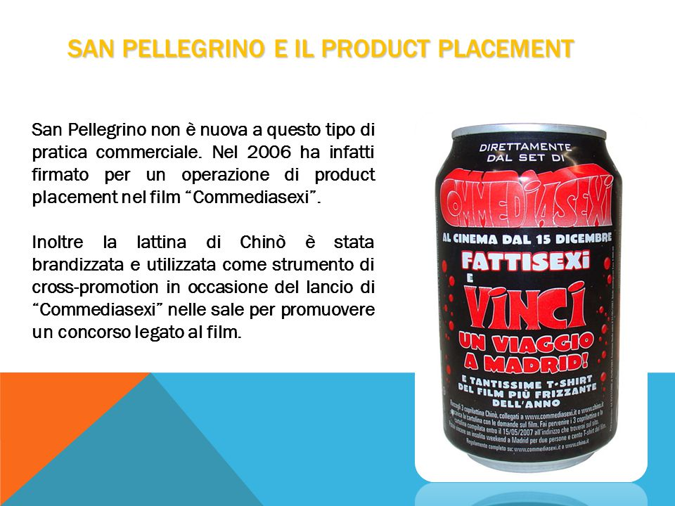SAN PELLEGRINO E IL PRODUCT PLACEMENT