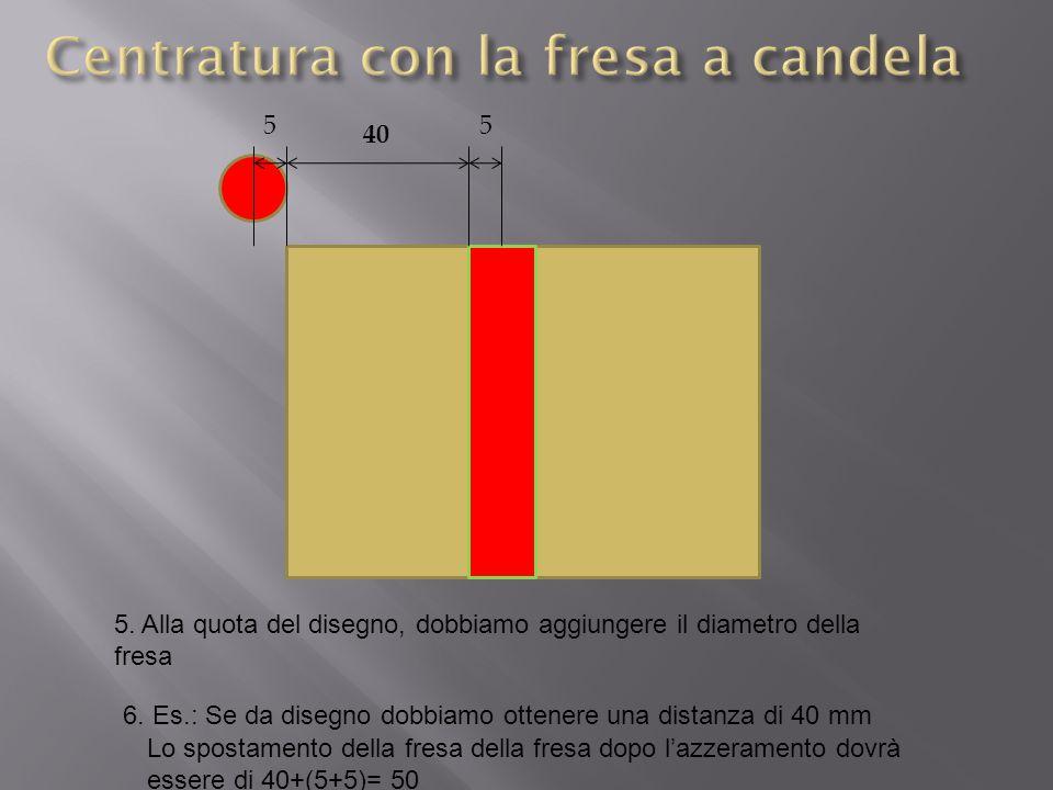 Centratura con la fresa a candela