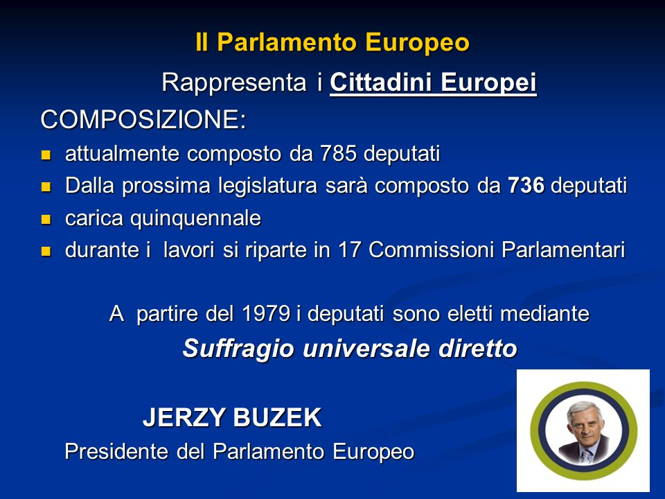 Yes we europe ppt scaricare for Parlamento composizione