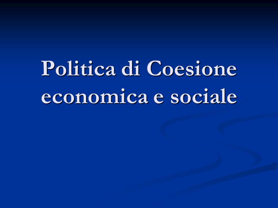 Politica di Coesione economica e sociale