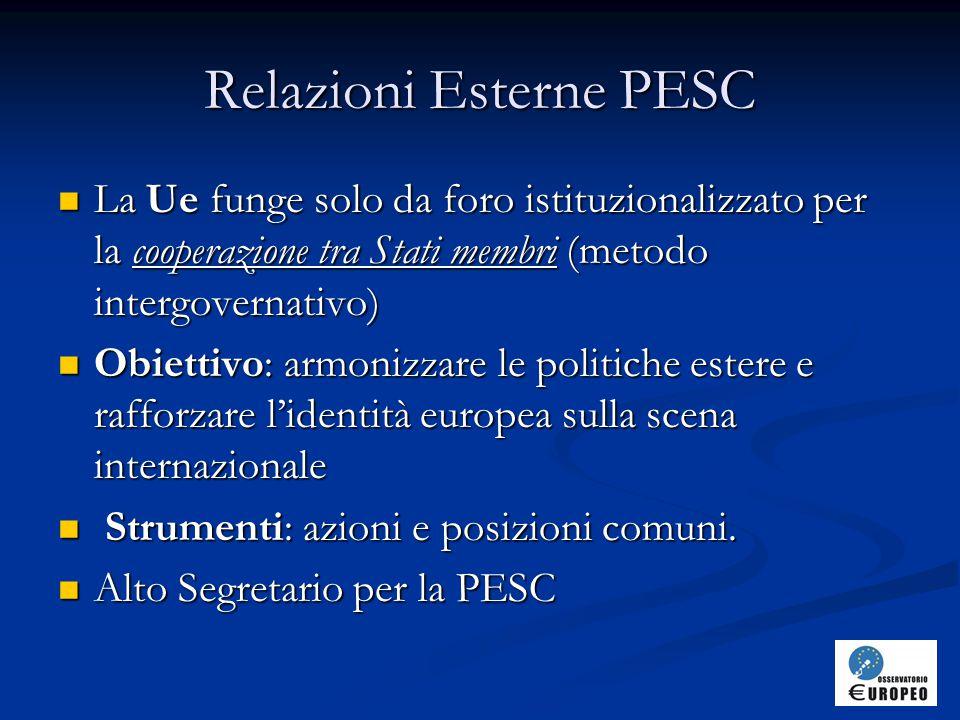 Relazioni Esterne PESC
