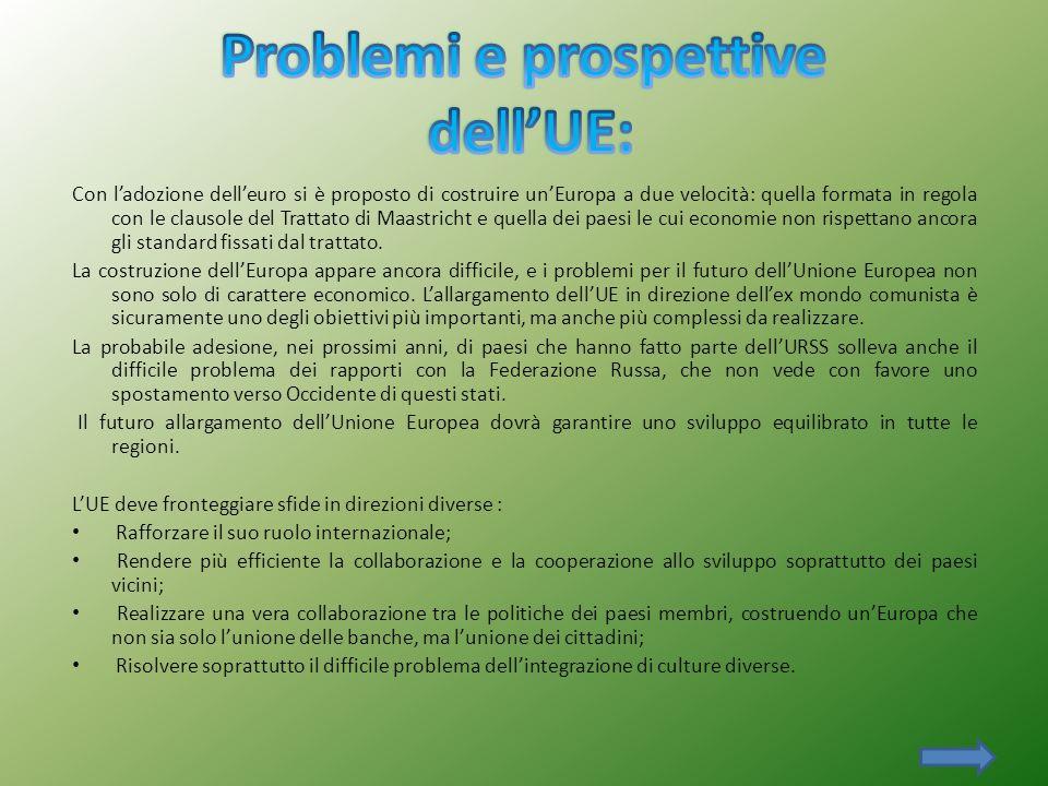 Problemi e prospettive dell'UE: