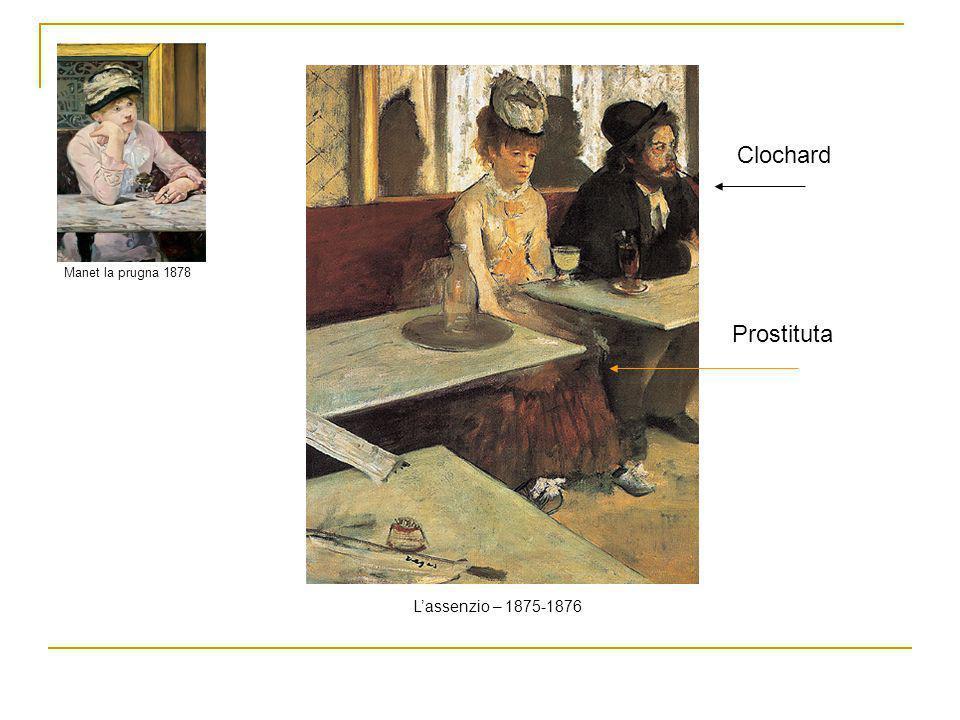 Manet la prugna 1878 L'assenzio – 1875-1876 Clochard Prostituta